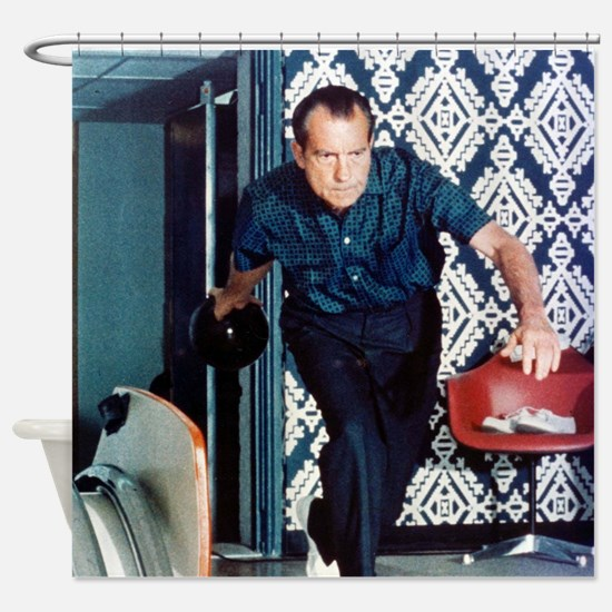 Richard Nixon Bowling Shower Curtain