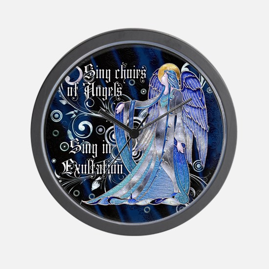 Harvest Moons Art Nouveau Angel Wall Clock