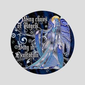 """Harvest Moons Art Nouveau Angel 3.5"""" Button"""