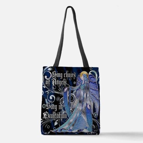 Harvest Moons Art Nouveau Angel Polyester Tote Bag