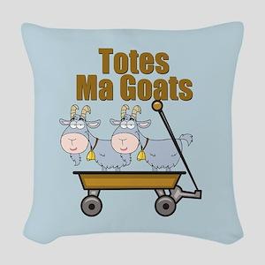 Totes Ma Goats Woven Throw Pillow