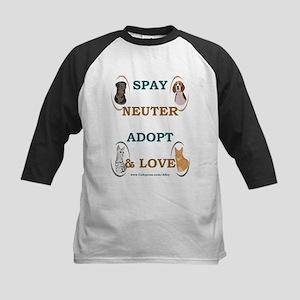 SPAY/NEUTER/ADOPT/LOVE Kids Baseball Jersey