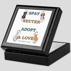 SPAY/NEUTER/ADOPT/LOVE Keepsake Box
