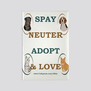 SPAY/NEUTER/ADOPT/LOVE Rectangle Magnet