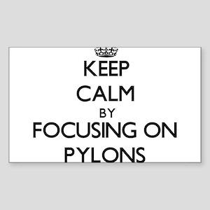 Keep Calm by focusing on Pylons Sticker
