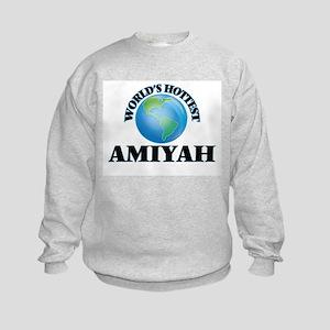 World's Hottest Amiyah Kids Sweatshirt