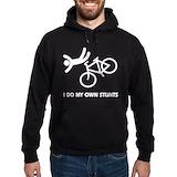 I do all my own stunts bike Dark Hoodies