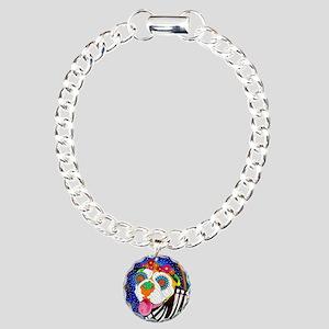 Roxy the Bulldog Charm Bracelet, One Charm