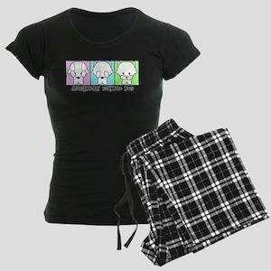 American Eskimo Dog Eskie Women's Dark Pajamas