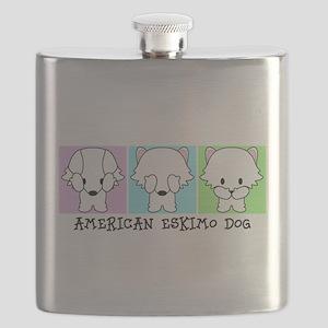 American Eskimo Dog Eskie Flask