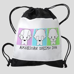 American Eskimo Dog Eskie Drawstring Bag