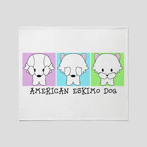 American Eskimo Dog Eskie Throw Blanket