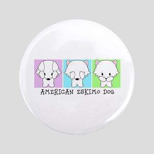 "American Eskimo Dog Eskie 3.5"" Button"