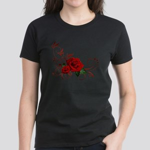 red roses Women's Dark T-Shirt