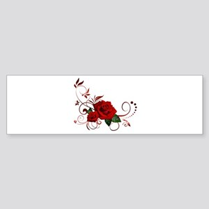 red roses Bumper Sticker