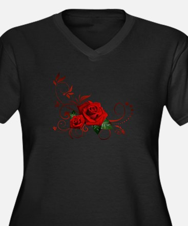 red roses Plus Size T-Shirt