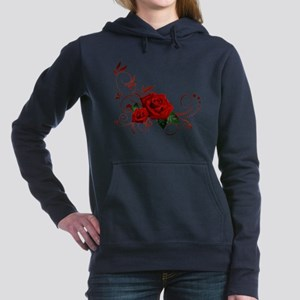 red roses Women's Hooded Sweatshirt
