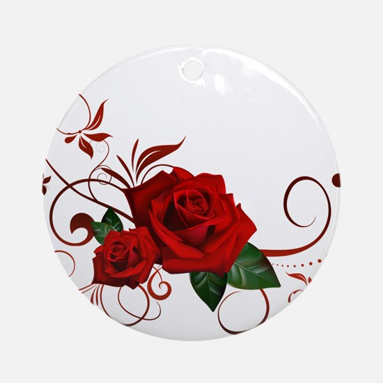 red roses Ornament (Round)
