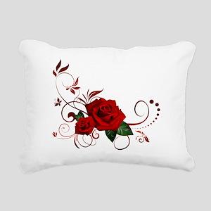 red roses Rectangular Canvas Pillow