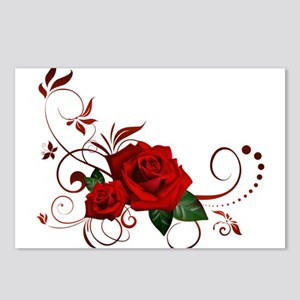 red roses Postcards (Package of 8)