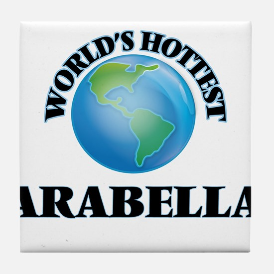 World's Hottest Arabella Tile Coaster