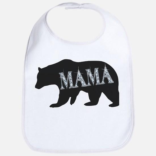 mama bear blk Baby Bib