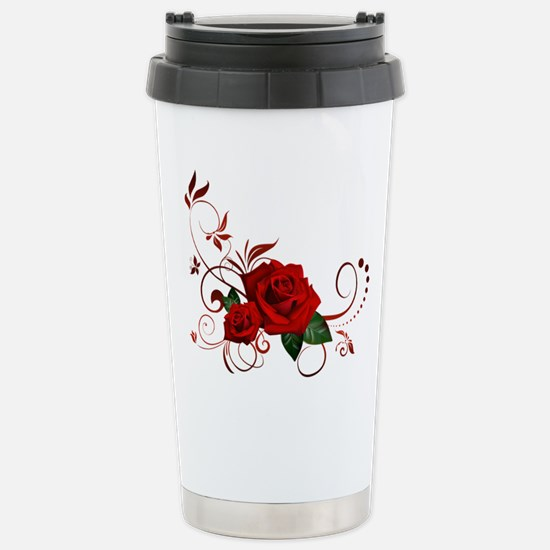 red roses Stainless Steel Travel Mug