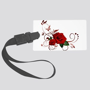 red roses Large Luggage Tag