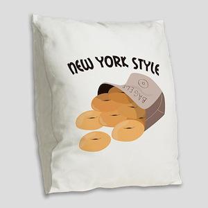 New York Style Burlap Throw Pillow