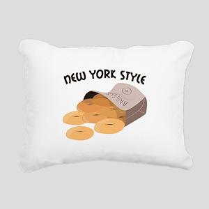 New York Style Rectangular Canvas Pillow