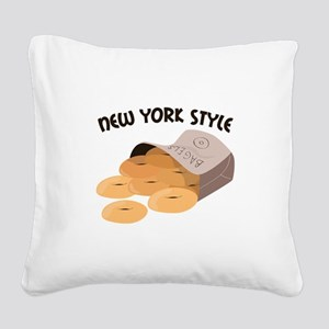 New York Style Square Canvas Pillow