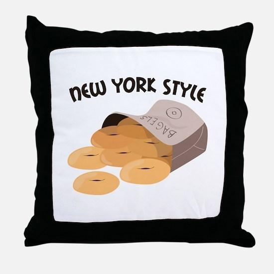 New York Style Throw Pillow