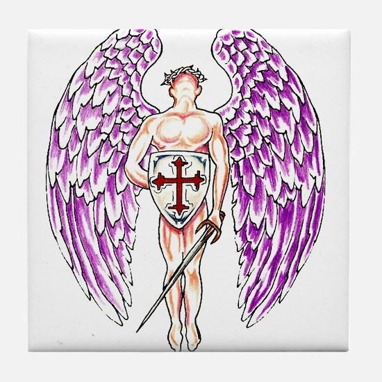 Cute Angel religion beliefs Tile Coaster