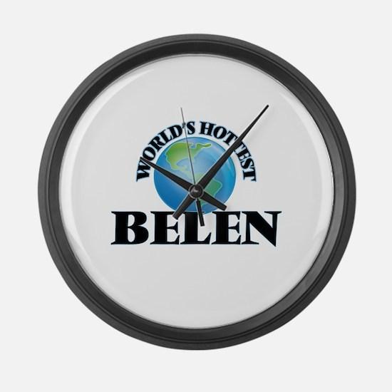 World's Hottest Belen Large Wall Clock