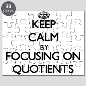 Keep Calm by focusing on Quotients Puzzle
