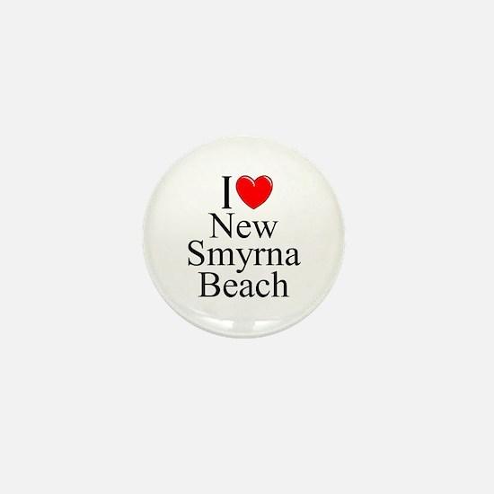 """I Love New Smyrna Beach"" Mini Button"