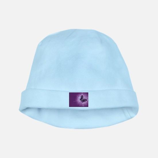 purple butterfly baby hat