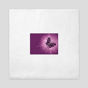 purple butterfly Queen Duvet