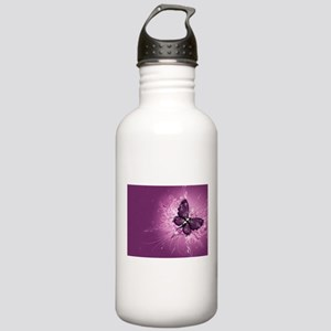 purple butterfly Stainless Water Bottle 1.0L