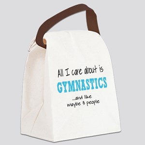 All I Care About Gymnastics Canvas Lunch Bag