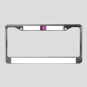 purple butterfly License Plate Frame