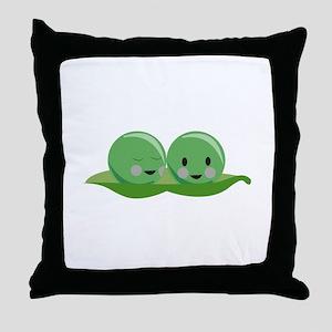 Two Peas Throw Pillow