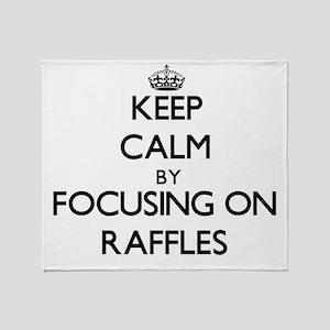 Keep Calm by focusing on Raffles Throw Blanket