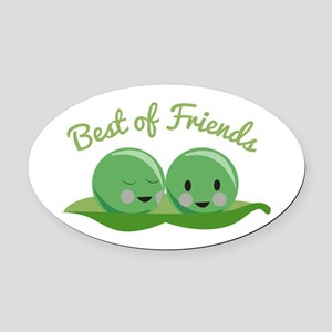 Best Of Friends Oval Car Magnet