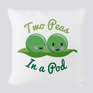 In A Pod Woven Throw Pillow