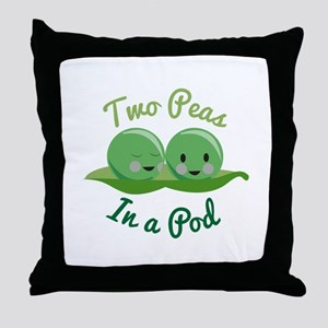 In A Pod Throw Pillow
