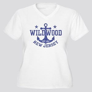 Wildwood New Jers Women's Plus Size V-Neck T-Shirt