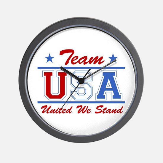 TEAM USA United We Stand Wall Clock