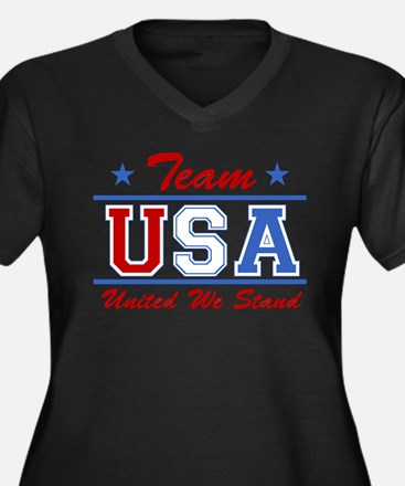 TEAM USA United We Stand Women's Plus Size V-Neck