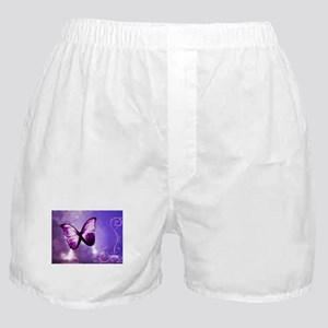 purple butterfly Boxer Shorts